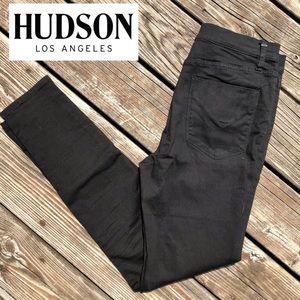 Hudson Jeans Black Barbara Super Skinny • 30